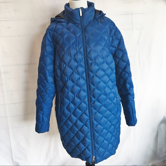 Lands' End Jackets & Blazers - Lands End 1x down feather quilted puffer coat